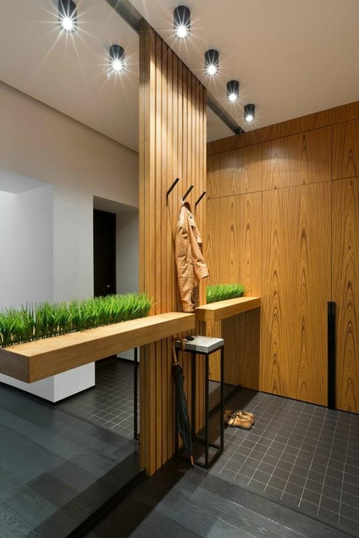 52-decoration-couloir-eclairage-un-grand-miroir-le-sol-est-noir