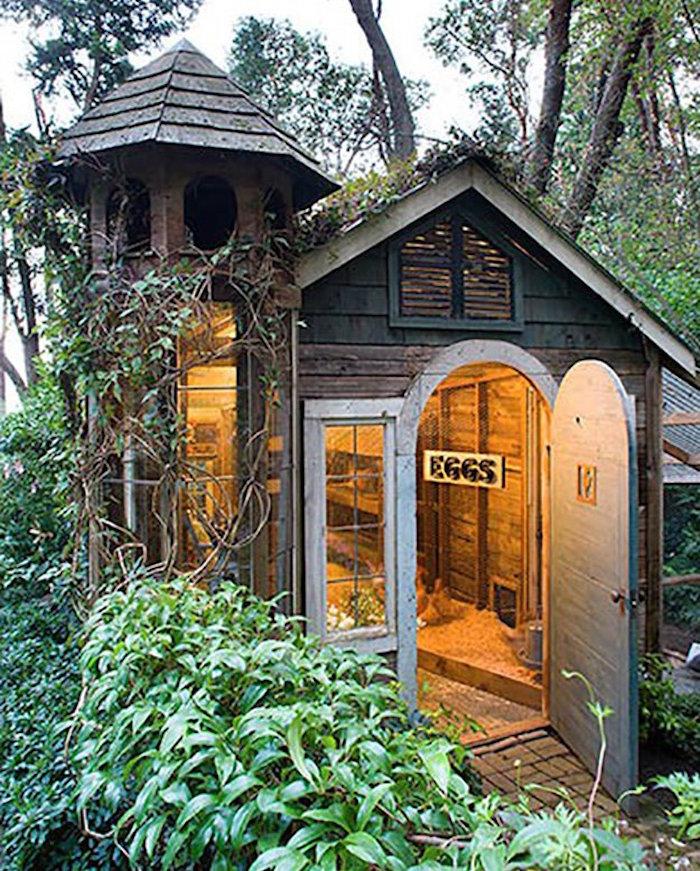 poulailler maisons-poules-bois-jardin-design