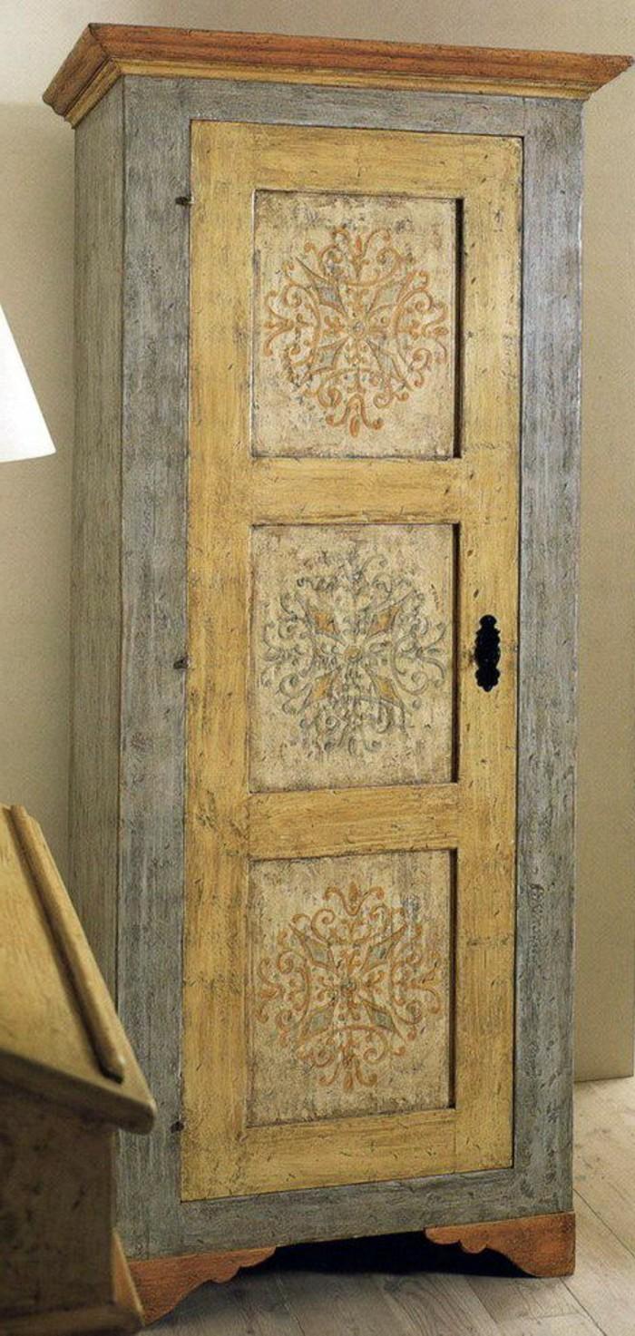 63-decoration-couloir-un-meuble-en-bois-pour-garder-des-chaussures