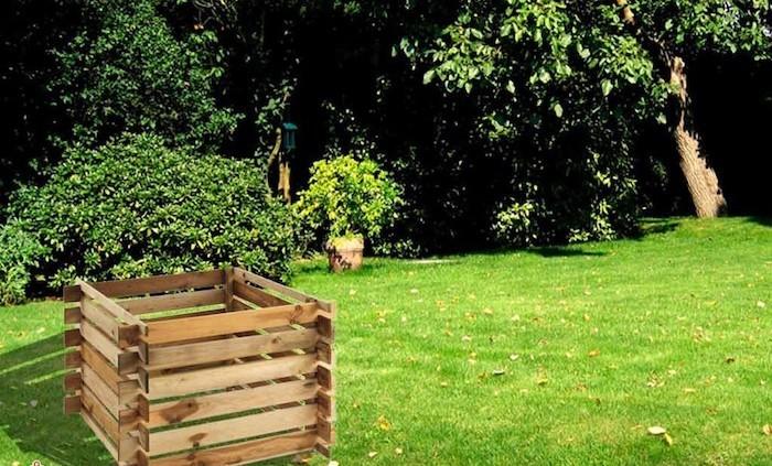 Composteur Bois Pas Cher : composteur bac a compost en bois jardipolys de mr bricolage pas cher