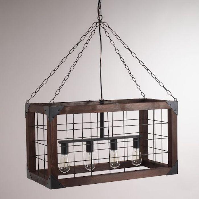 fabriquer-une-lampe-suspendue-cage-bois