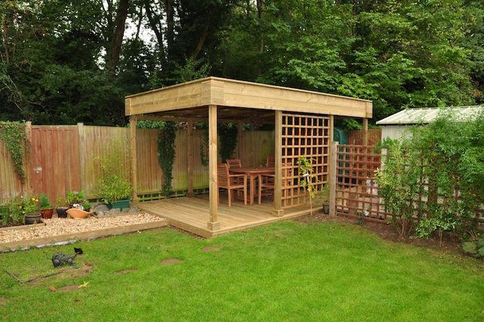abris de jardin en bois avec terrasse et toit plat pas cher. Black Bedroom Furniture Sets. Home Design Ideas