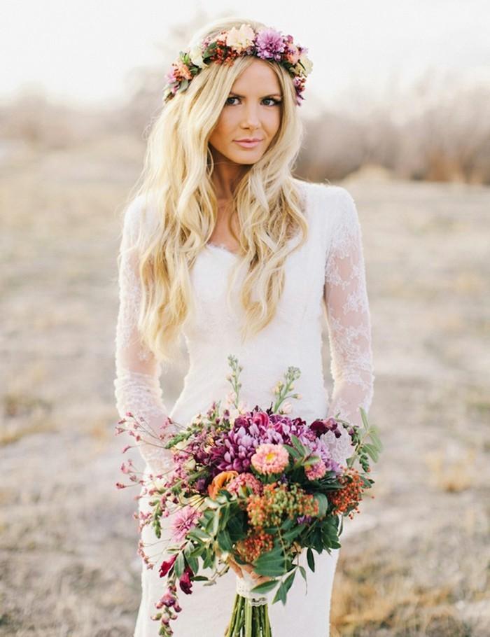 adorable-robe-de-mariee-boheme-chic-femme-mariage-a-la-plage