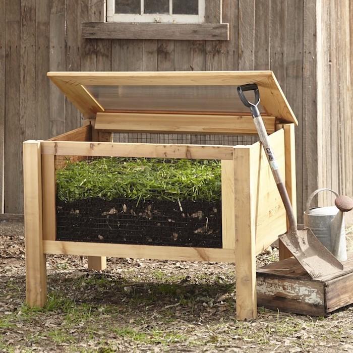 Bac composte nourrissez vous de vos d chets verts - Bac en bois jardin ...