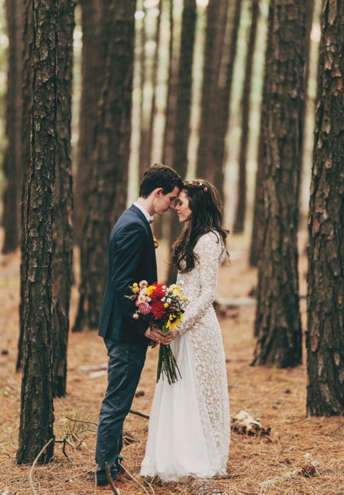 beaute-a-la-foret-chique-tenue-robe-mariee-boheme-chic-mariage