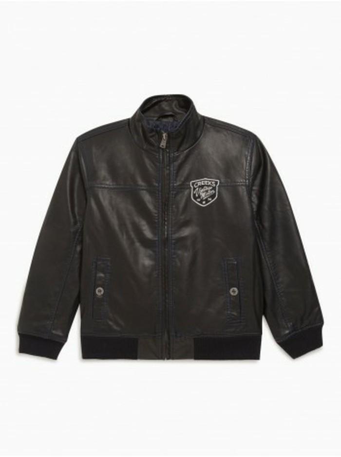 blouson-enfant-en-noir-simili-cuir-avec-logo-la-halle-resized