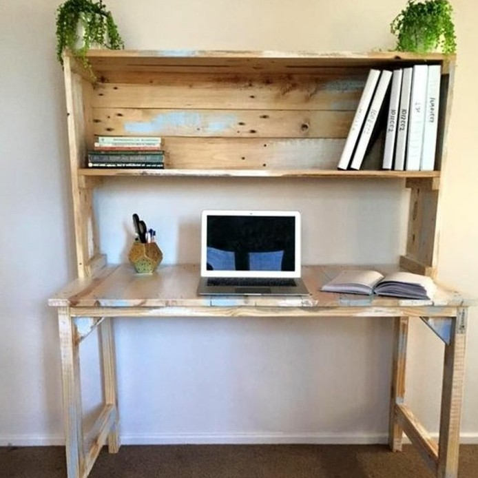 Construire un bureau en bois cheap fabriquer un bureau - Construire bureau ...