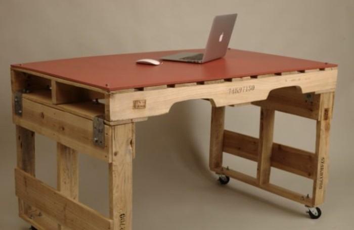 Bureau en palette modèles diy et tutoriel pour le fabriquer soi même