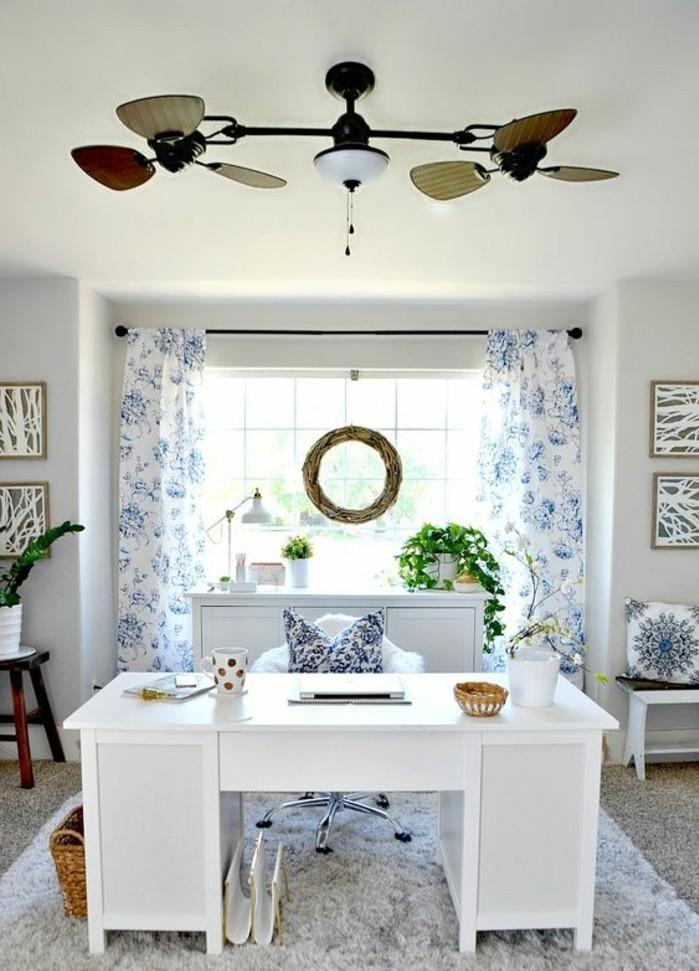 bureau-laque-blanc-amenager-petit-office-chez-soi-style-bord-de-mer