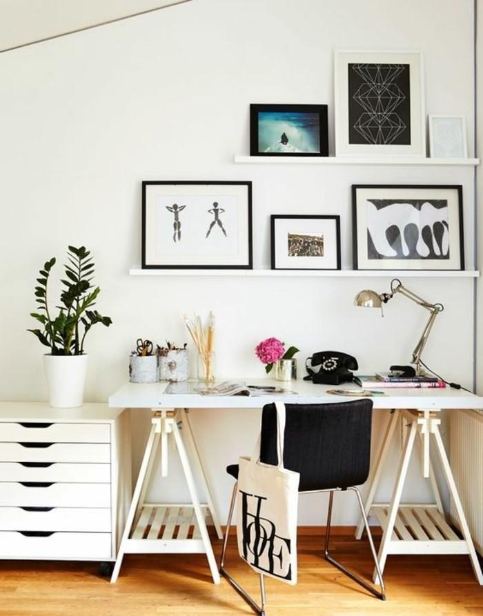 bureau-laque-blanc-bureau-blanc-ikea-tableaux-muraux