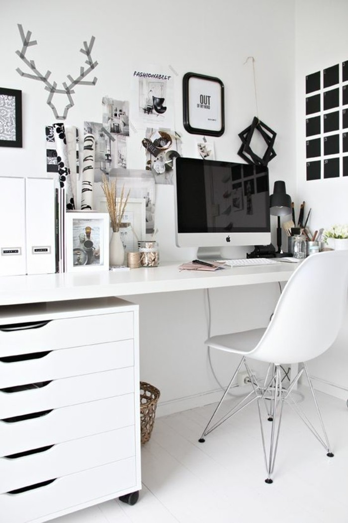 comment d corer un bureau laqu blanc 61 photos inspirantes. Black Bedroom Furniture Sets. Home Design Ideas