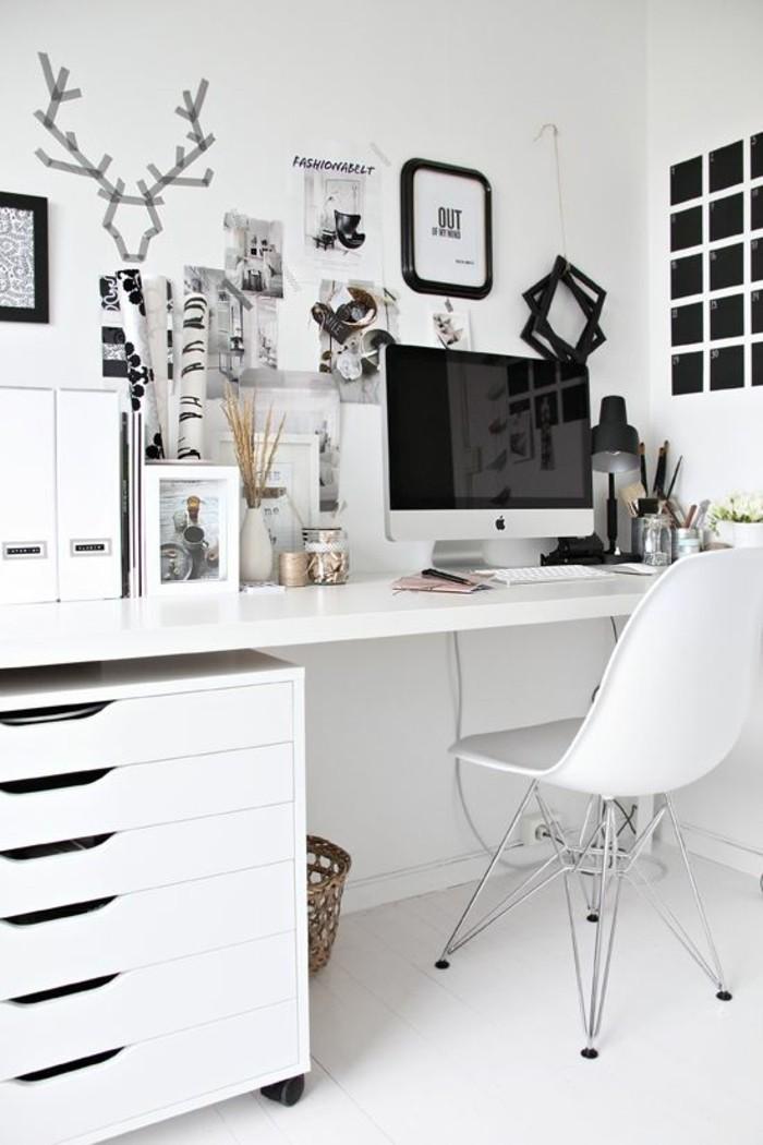 bureau-laque-blanc-bureau-ikea-pour-petit-office-original