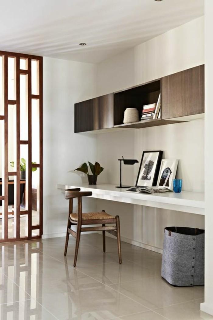bureau-laque-blanc-bureau-monte-au-mur-style-minimaliste