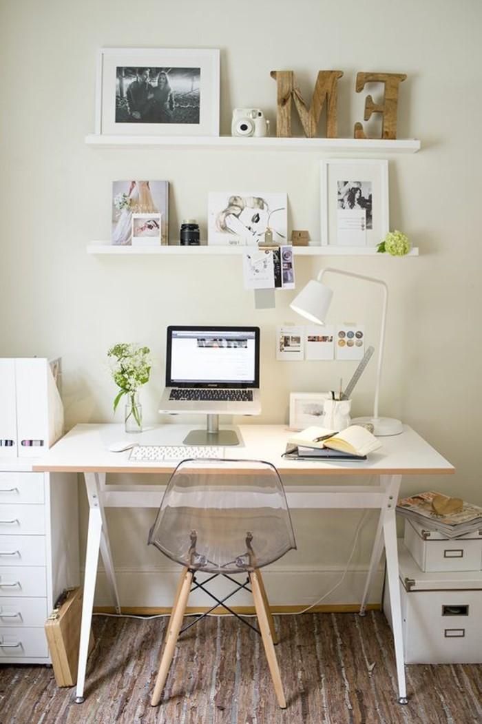Comment d corer un bureau laqu blanc 61 photos inspirantes for Petit bureau blanc