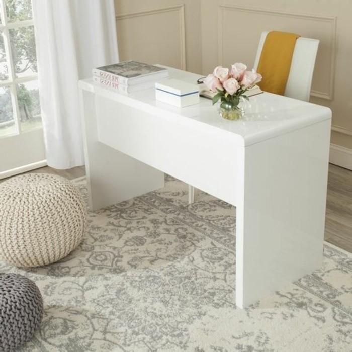 bureau-laque-blanc-design-epure-de-bureau-blanc