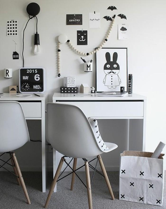 bureau-laque-blanc-deux-bureaux-blancs-laques
