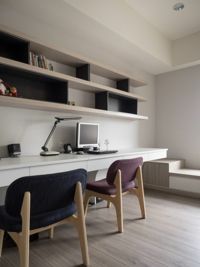 Comment d corer un bureau laqu blanc 61 photos inspirantes - Decoration bureau contemporain ...