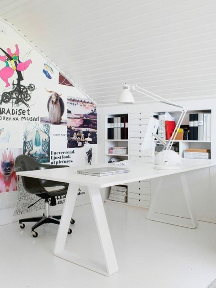 Comment Décorer Un Bureau Laqué Blanc - 61 Photos Inspirantes