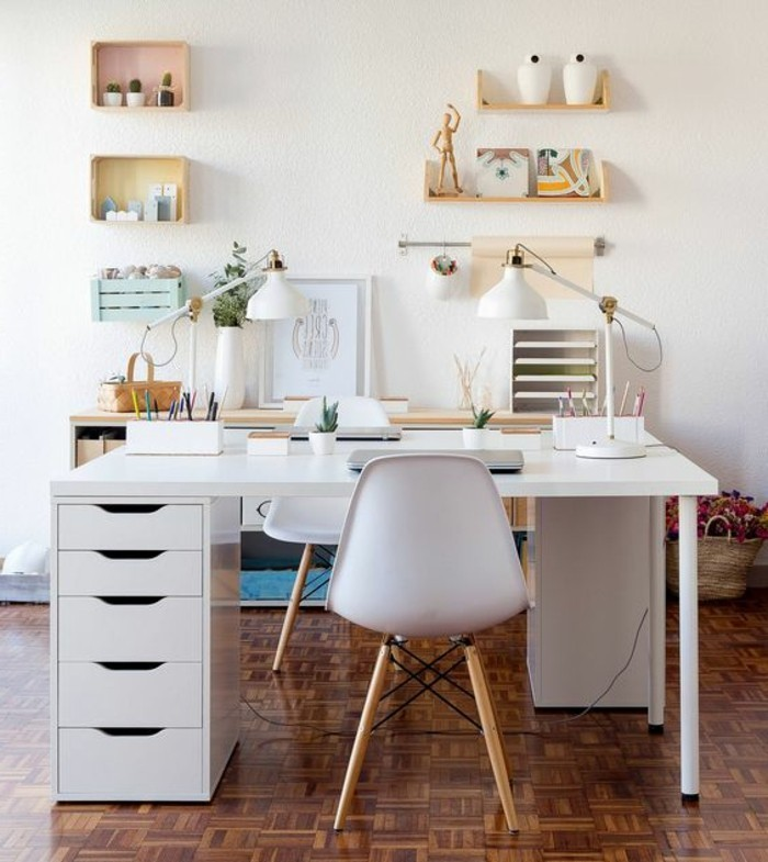 Comment d corer un bureau laqu blanc 61 photos for Bureau blanc rangement