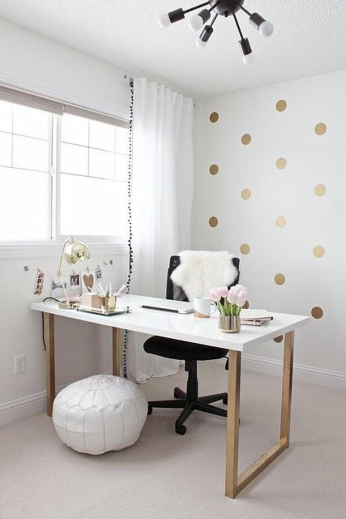 bureau-laque-blanc-pouf-en-cuir-blanc-petit-office