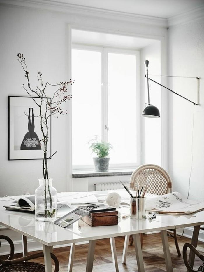 bureau-laque-blanc-style-scandinave-espace-de-travail