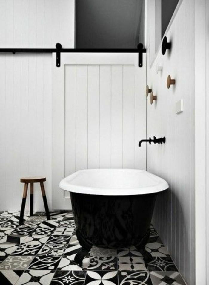 carrelage damier noir et blanc salle de bain dco salle de bain - Carrelage Damier Noir Et Blanc Salle De Bain