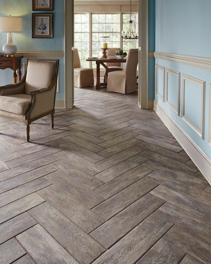 Le carrelage aspect bois en 74 photos quels sont ses for Parquet pour salon moderne