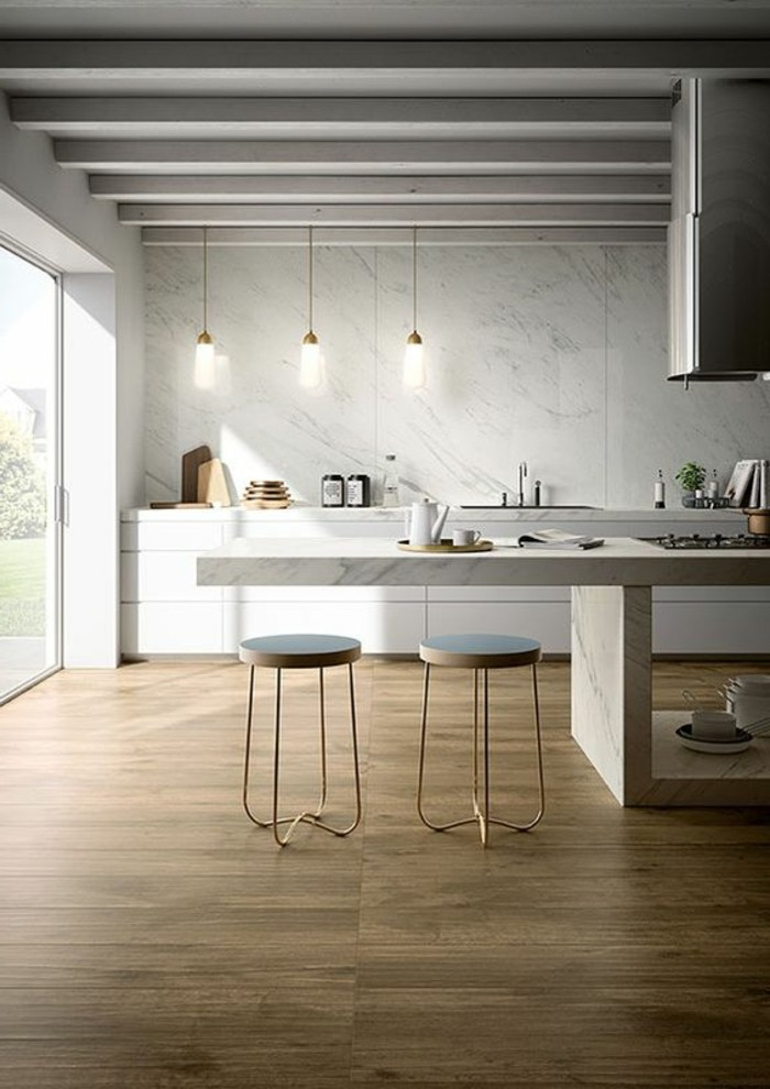 Le carrelage aspect bois en 74 photos quels sont ses for Carrelage sol cuisine imitation parquet