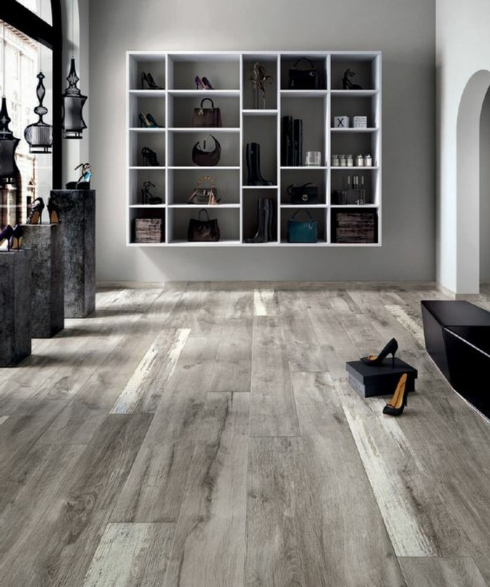 Le carrelage aspect bois en 74 photos quels sont ses for Parquet imitation carrelage gris