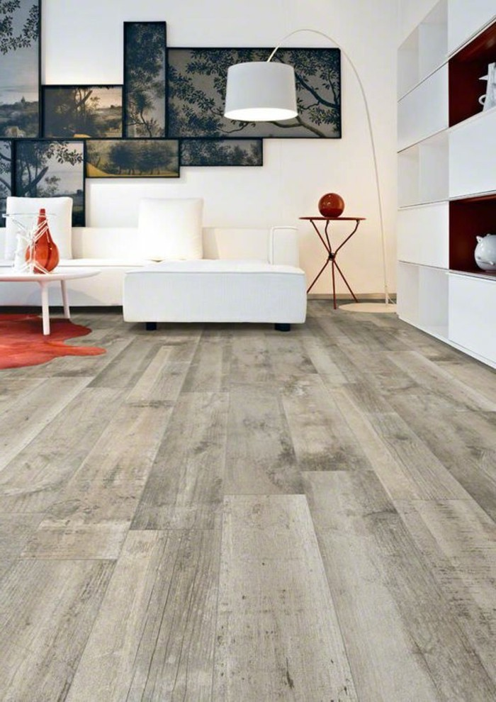 Le carrelage aspect bois en 74 photos quels sont ses - Carrelage imitation parquet salon ...