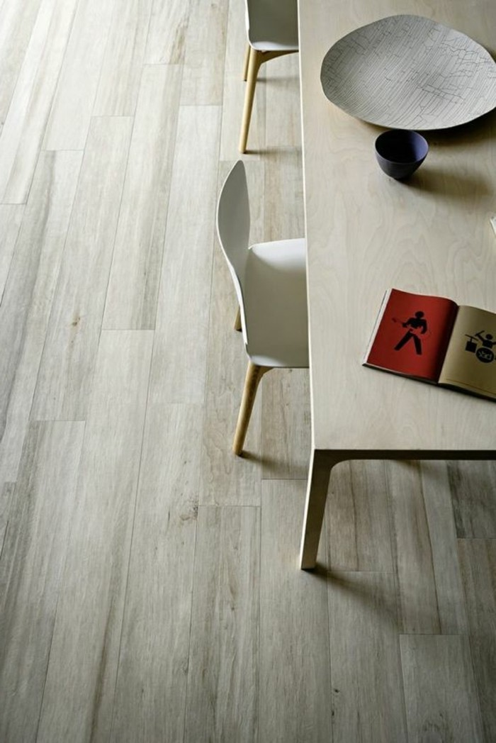 carrelage-aspect-bois-salle-a-manger-carrelage-bois-blanc