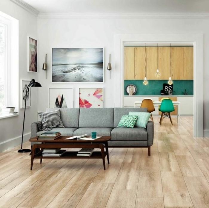Le carrelage aspect bois en 74 photos quels sont ses avantages - Carrelage salon moderne ...