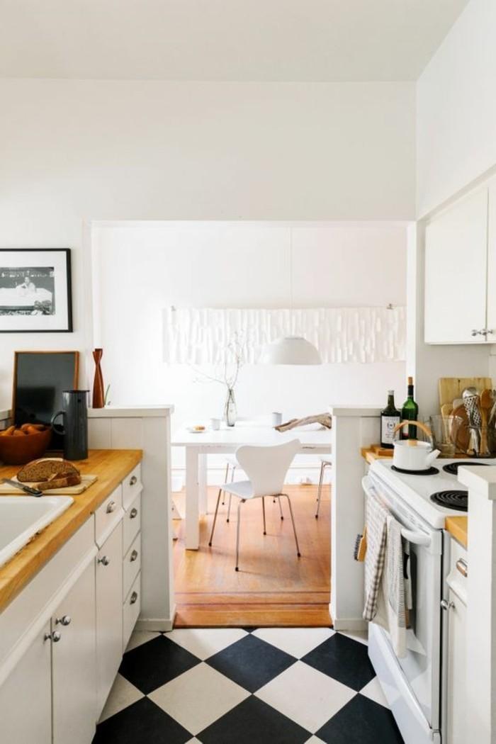 carrelage-damier-noir-et-blanc-carelage-damier-de-cuisine