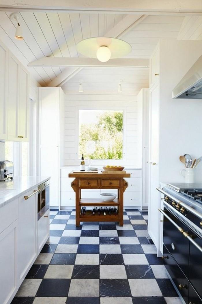 carrelage-damier-noir-et-blanc-cuisine-originale