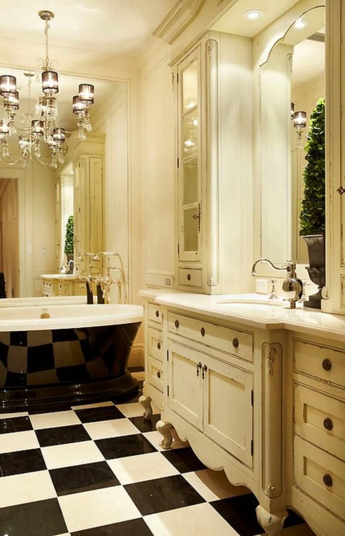 carrelage-damier-noir-et-blanc-equipement-de-salle-de-bain-elegant