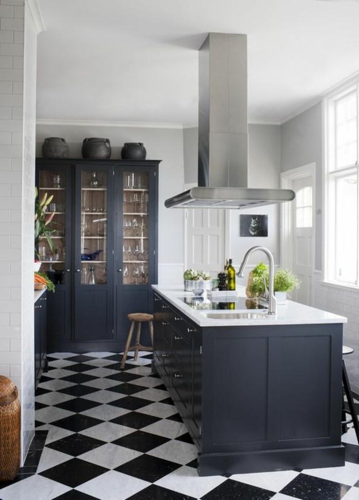 Carrelage design carrelage damier noir et blanc moderne design pour carre - Carrelage cuisine blanc et noir ...
