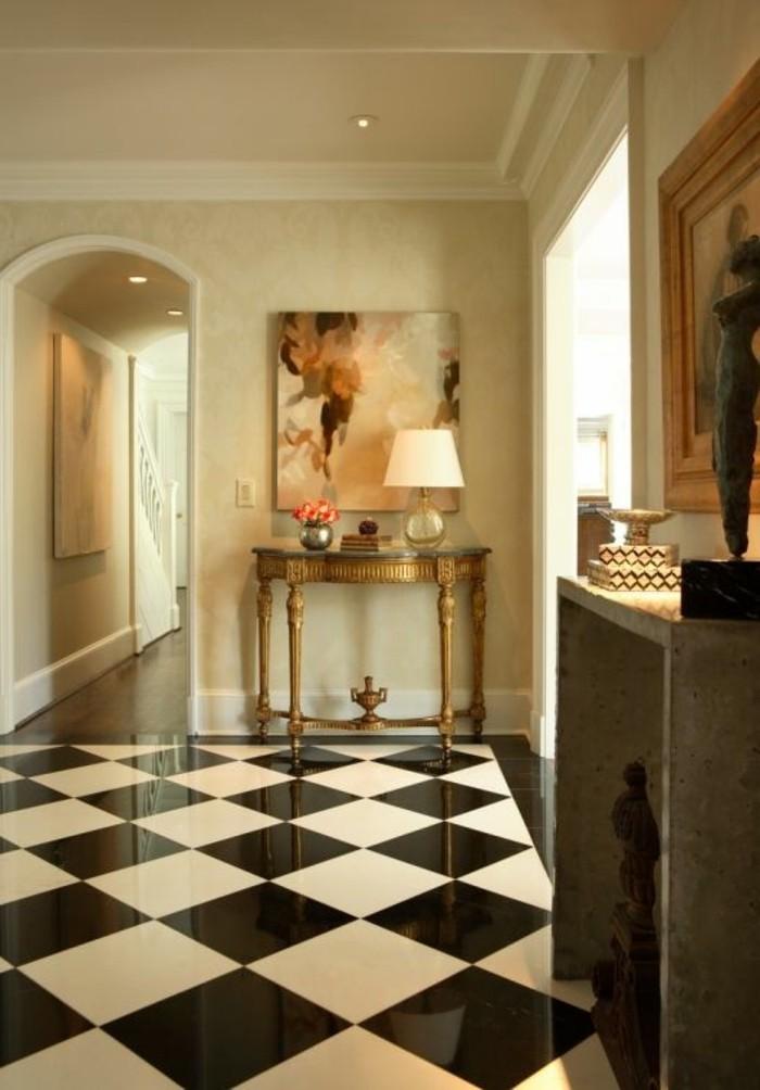 carrelage-damier-noir-et-blanc-interieur-imposant-aristocratique