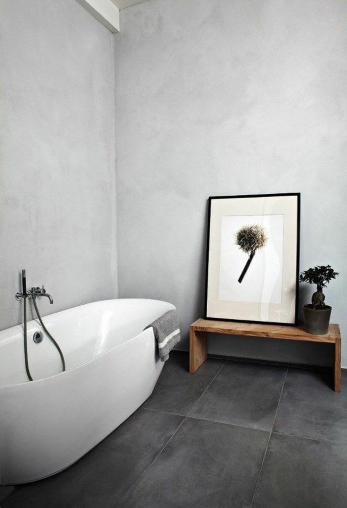 carrelage-effet-beton-anthracite-et-baignoire-ovale-blanche