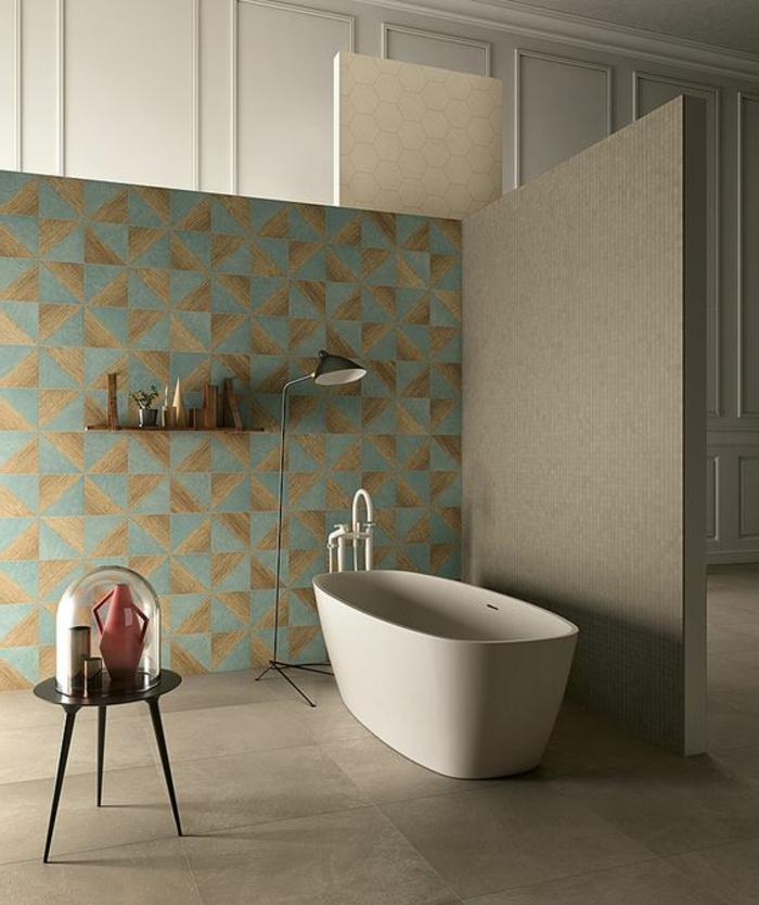 Le carrelage effet b ton en 55 photos inspirantes home info for Carrelage bois salle de bain