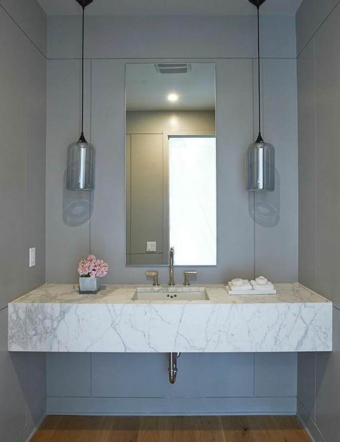 le carrelage effet b ton en 55 photos inspirantes. Black Bedroom Furniture Sets. Home Design Ideas