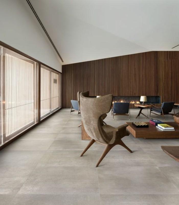 Salon Moderne Foyer : Le carrelage effet béton en photos inspirantes
