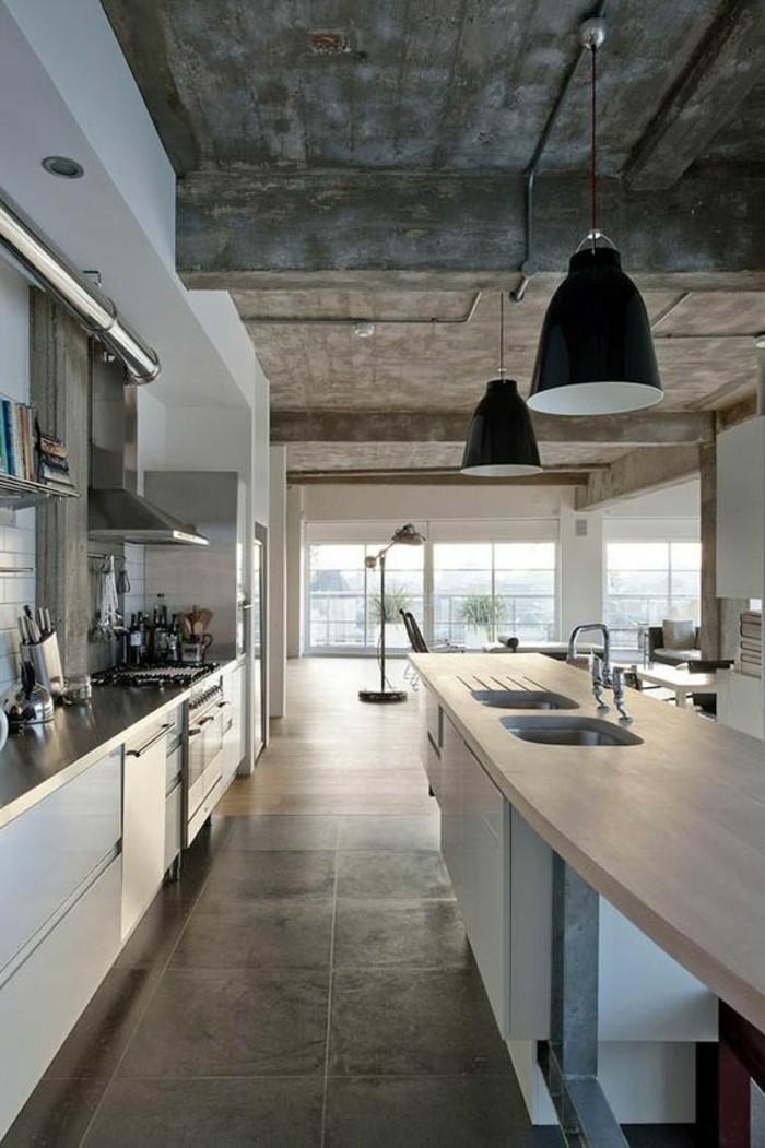 carrelage-effet-beton-lampe-suspendue-cuisine-style-industriel