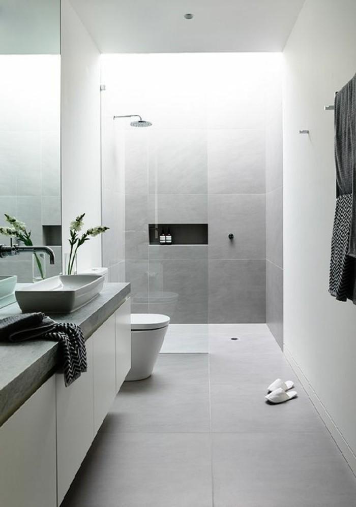 Le carrelage effet b ton en 55 photos inspirantes for Salle de bain dans les ton gris