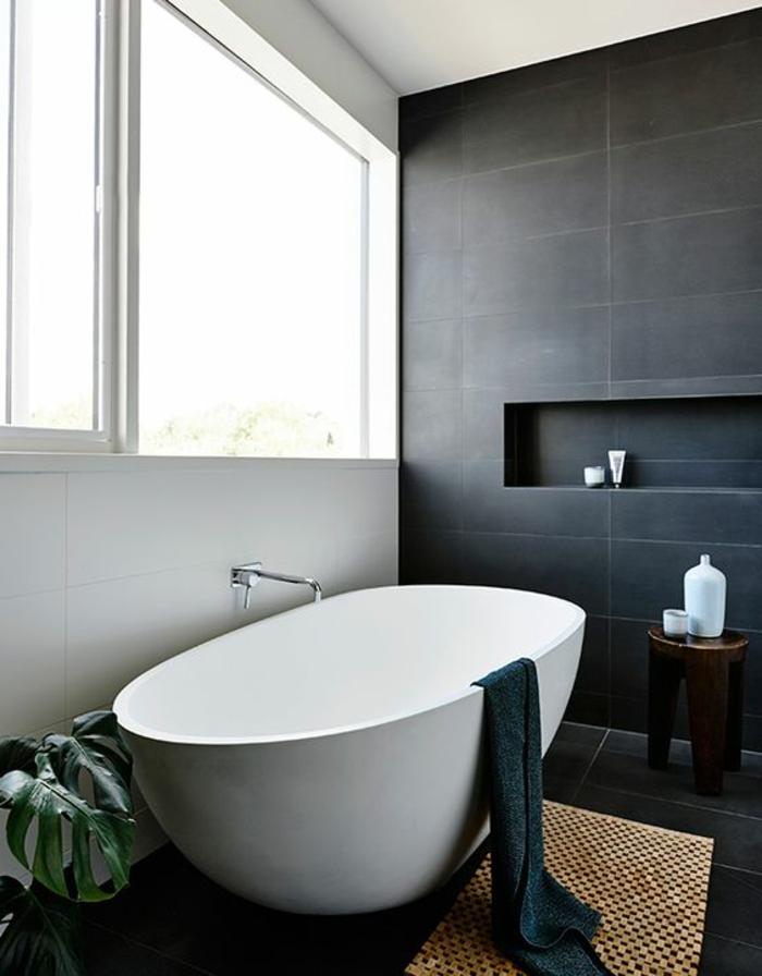 Le carrelage effet b ton en 55 photos inspirantes for Peindre le carrelage de sa salle de bain