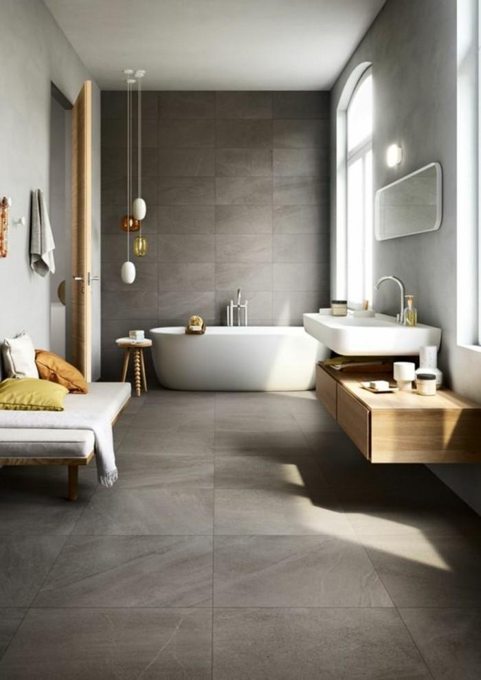 carrelage-effet-beton-salle-de-bain-vaste-meuble-sous-lavabo-bois