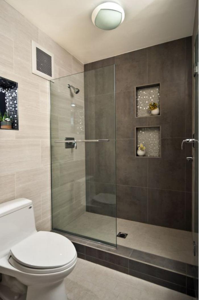 59 salles de bain chic qui vous montrent le beauté du carrelage ... - Faience Salle De Bain Grand Format