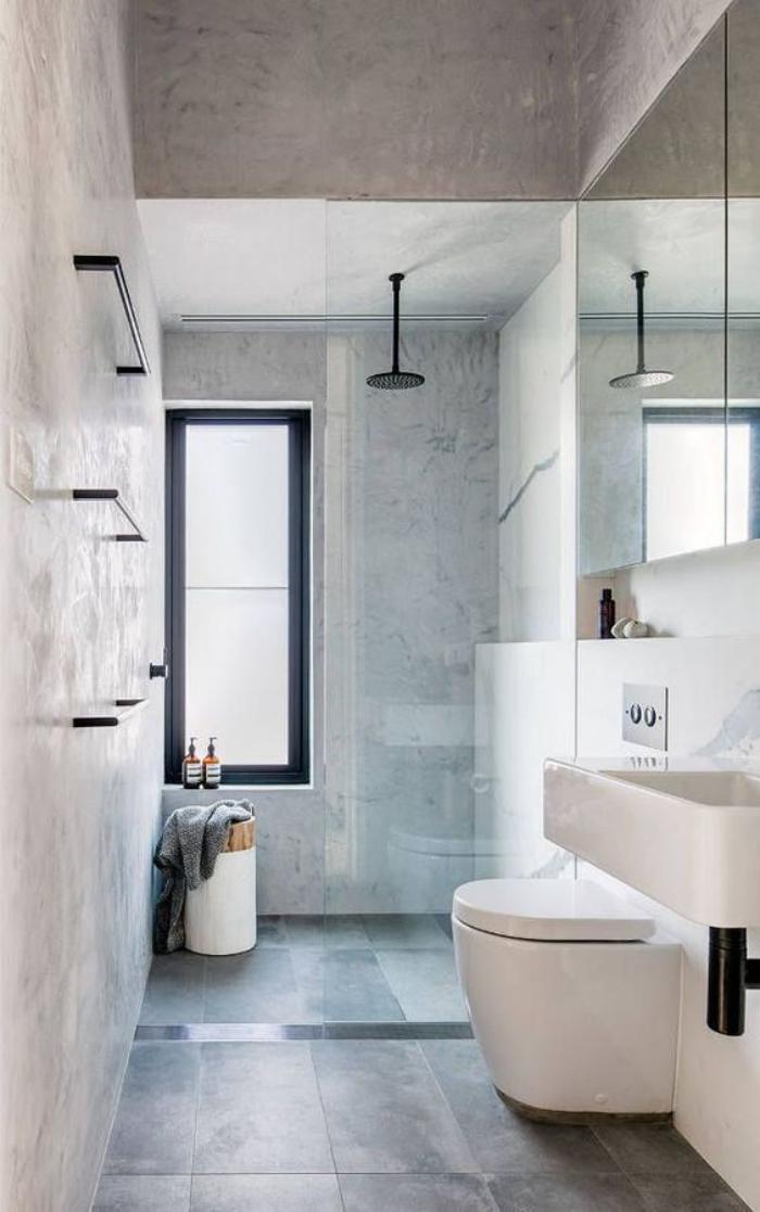 carrelage-gris-salle-de-bain-au-look-epure-lavabo-suspendu