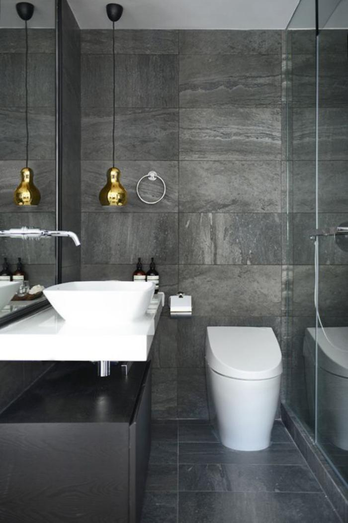 Faience salle de bain gris et blanc maison design for Salle de bain rose et blanc