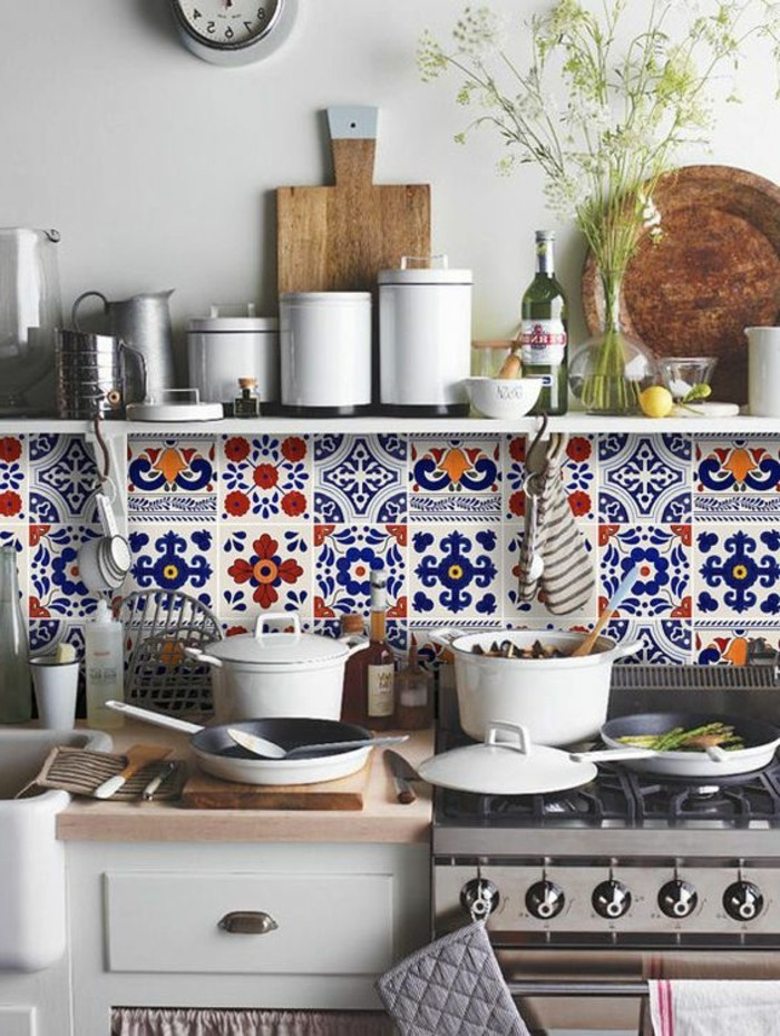 Comment adopter le carrelage patchwork son int rieur - Carrelage credence cuisine design ...