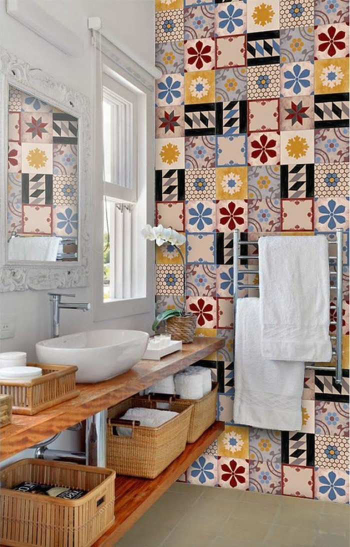 Comment adopter le carrelage patchwork son int rieur for Carrelage salle de bain style marocain